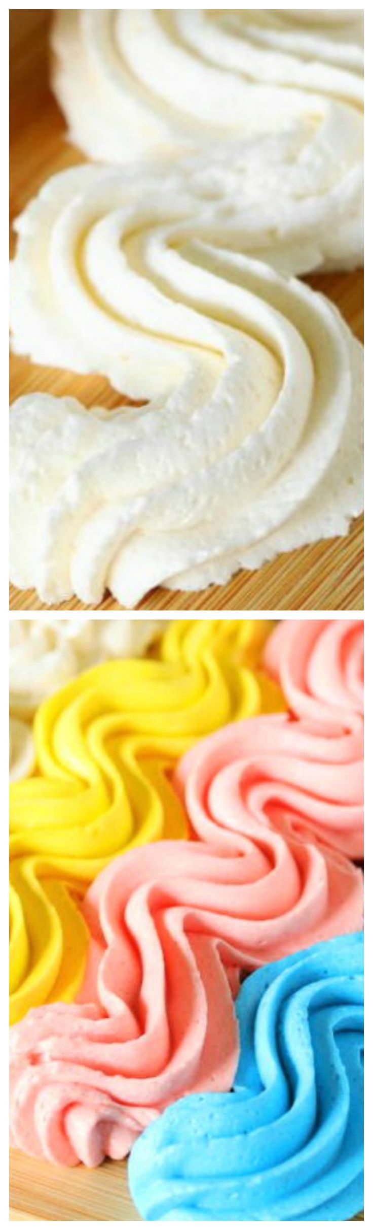 Homemade Vanilla Buttercream Frosting ~ Fluffy, creamy, sweet-but-not-too-sweet, and loaded with great vanilla flavor!