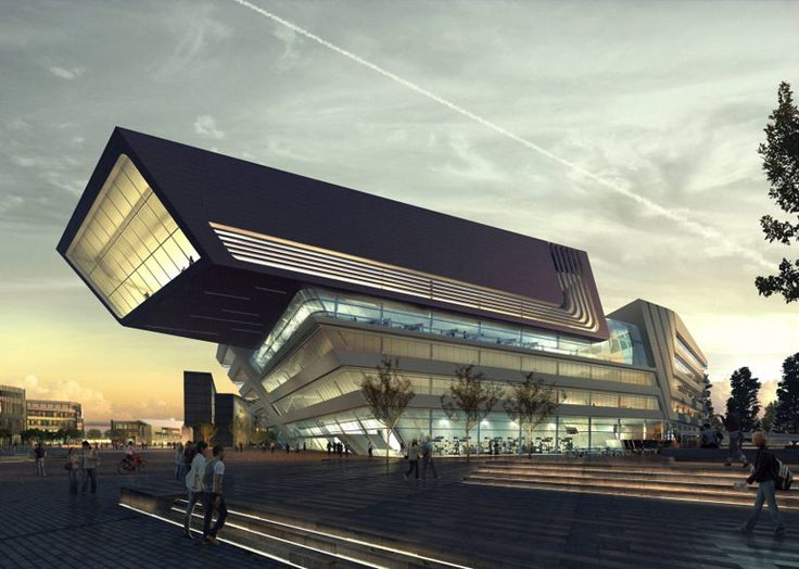 zaha hadid: library and learning center opens in vienna, austria