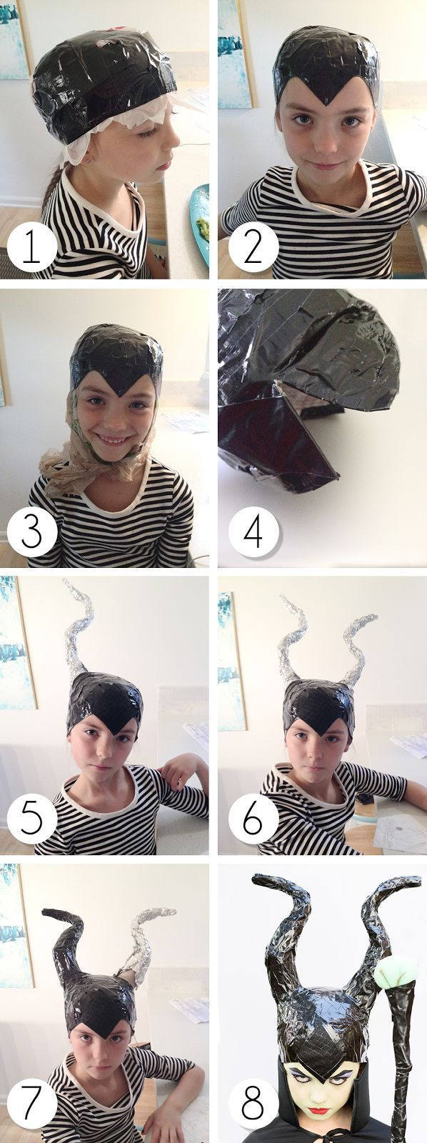 very easy duct tape DIY Maleficent Costume