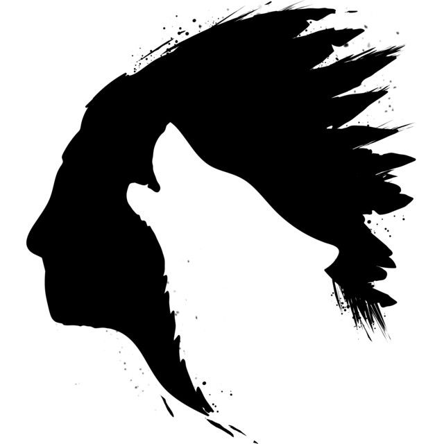 It's just a graphic of Monster Wolf Silhouette Drawing