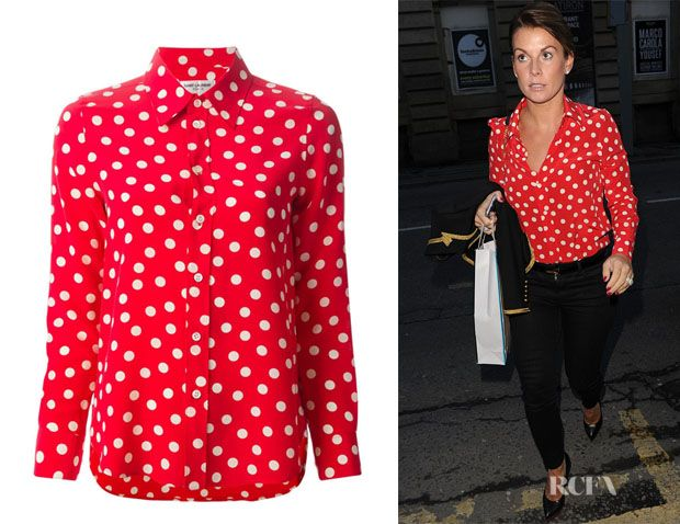 Coleen Rooney's Saint Laurent Polka Dot Shirt