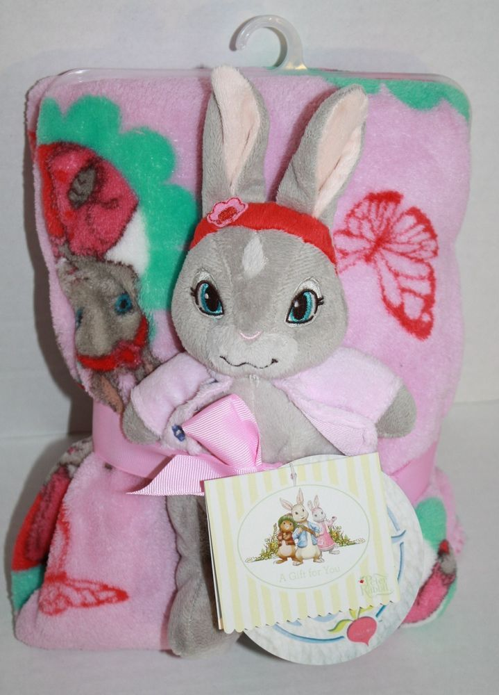 Peter Rabbit Baby Gift Sets : Nickelodeon baby blanket with plush gift set pink peter
