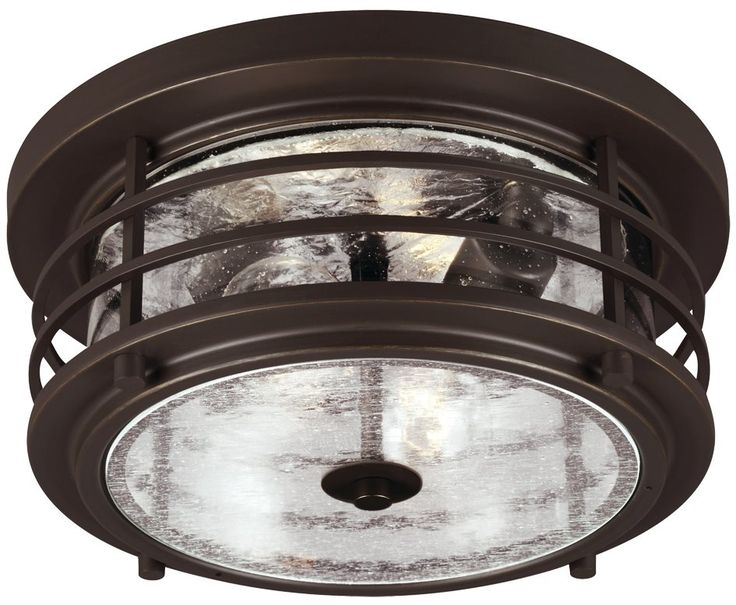 Sea Gull Lighting 7824402-71 Sauganash 75W Incand. Transitional Outdoor Flush Mount Ceiling Light SG-7824402-71