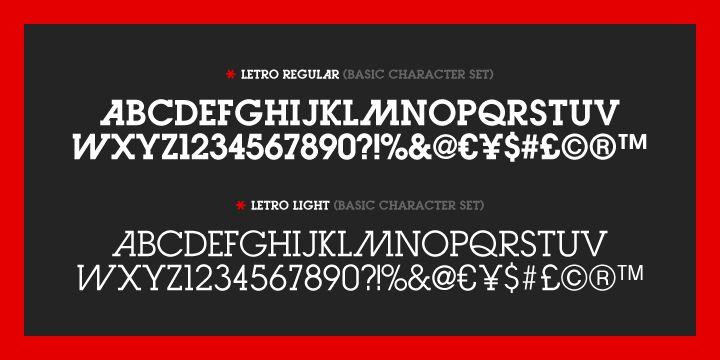 Letro - Modern Slab #Typography $50