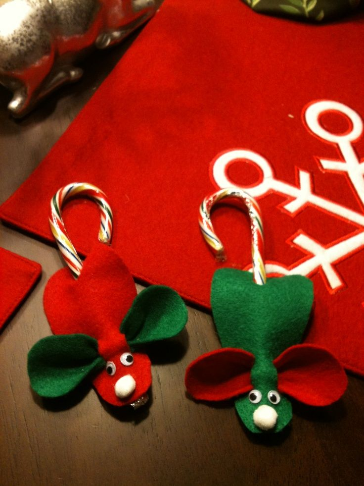 Candy cane mouse craft chirstmas candy cane mice craft ideas
