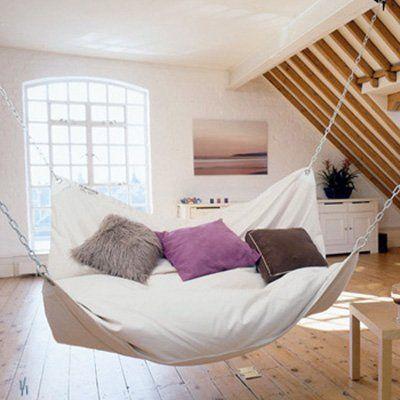 Beanbag hammock -- interesting idea.  Looks comfy.