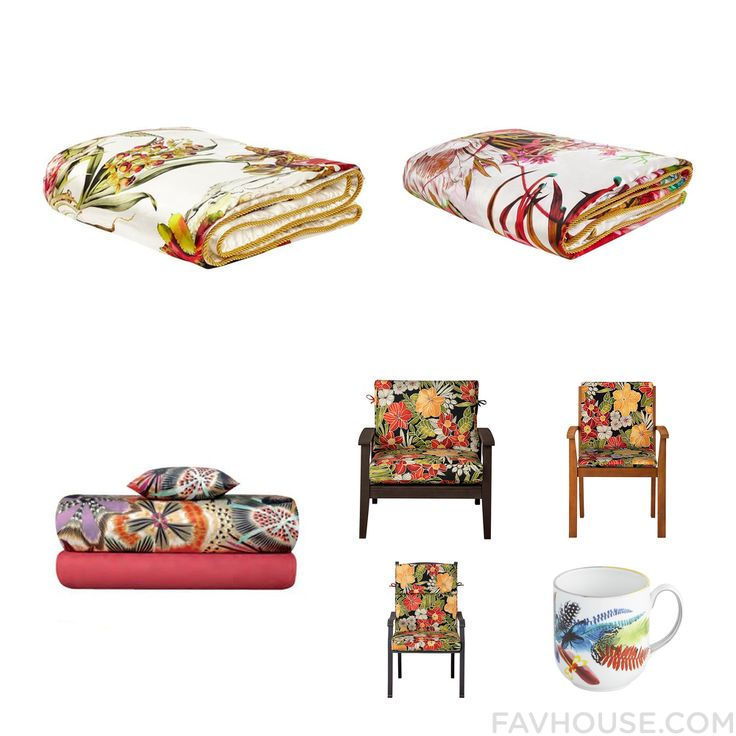 House Pieces Including Roberto Cavalli Blanket Tropical Bedding Missoni Home Bed Accessories And Outdoor Patio Furniture From July 2016 #home #decor