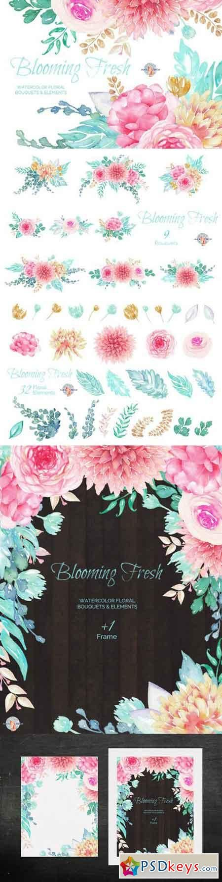 Blooming Fresh Watercolor Clipart 450143