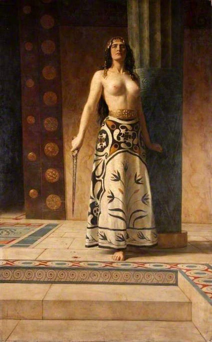 Clytemnestra: C 1890 By John Maler Collier (worcester City Museum And Art  Gallery)  Preraphaelite  Pinterest  Museums, Worcester City And City  Museum