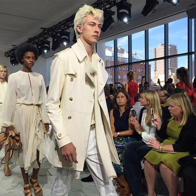 Wednesday morning with Lucky. @michaelkors @luckybsmith #ssnyfw15