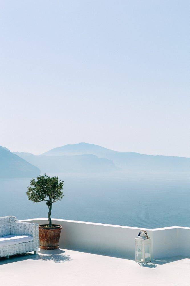 """The unbearable lightness of Oia"".  Oia, Santorini, Greece, by Stefan Klauke"