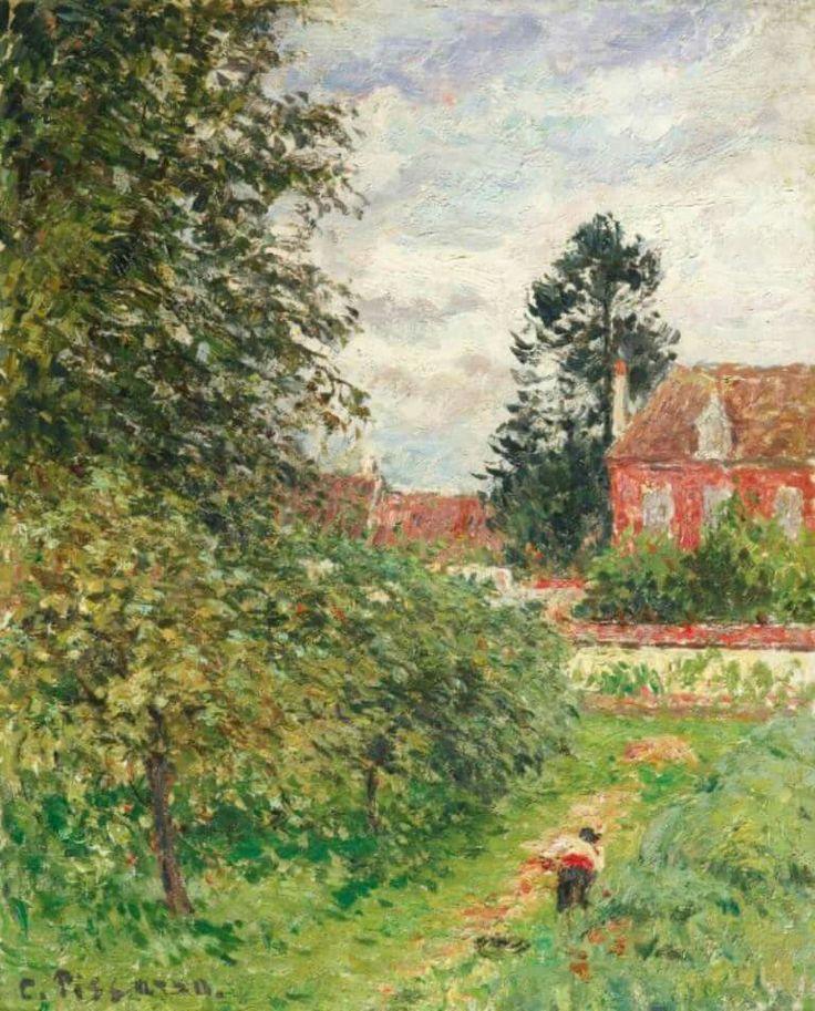 Camille Pissarro - La maison des anglais, Éragny, c. 1902. Oil on canvas, 16 1/8 x 13 1/8 in. (41 x 33.4 cm).