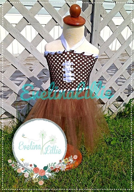 Cute Football Tutu Dress for Girls with Matching by EvelinaLillie