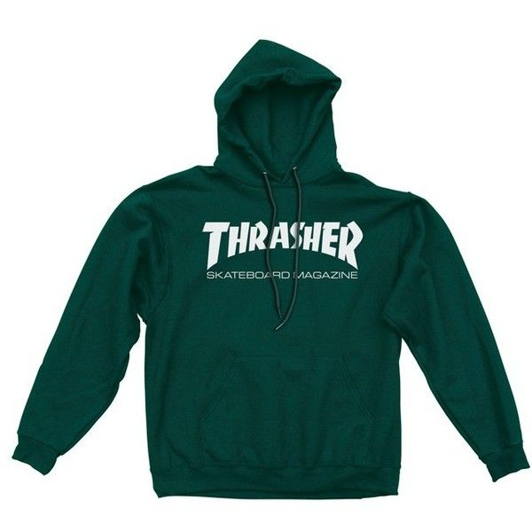 Skatemag Hood Forest Green featuring polyvore, women's fashion, clothing, tops, hoodies, forest green top, hooded pullover, green hoodies, hooded top and green hooded sweatshirt