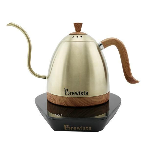 The Brewista Artisan Gooseneck Kettle is a stylish and functional variable temperature kettle with pour over designed spout for precision. Built with a wood grain lid, base and handle along with three body colours, all are build to stand out on any brew bar. Weather at home or in a cafe the Brewista Artisan kettle is built with performance in mind, with precision digital tempreture selection, you can dial in your brew and extract the best from your coffee.
