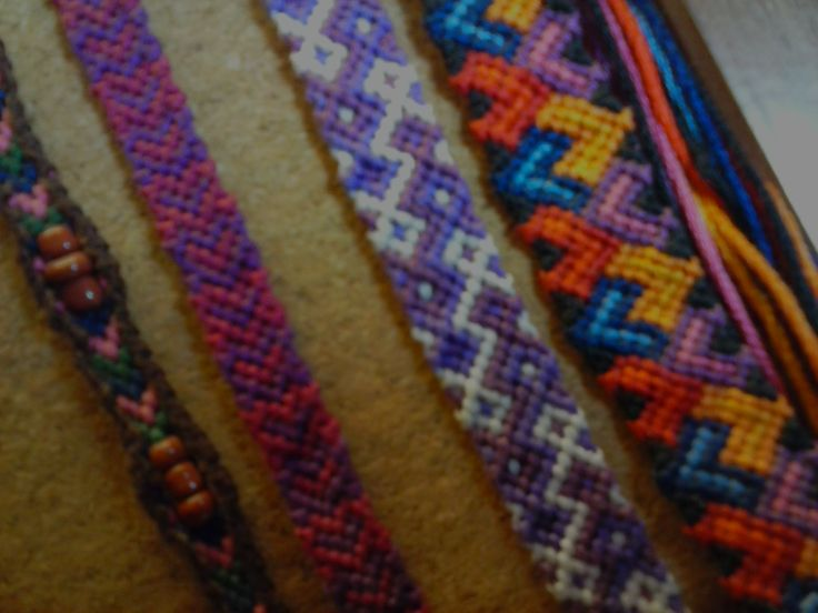 I really like making friendship bracelets...