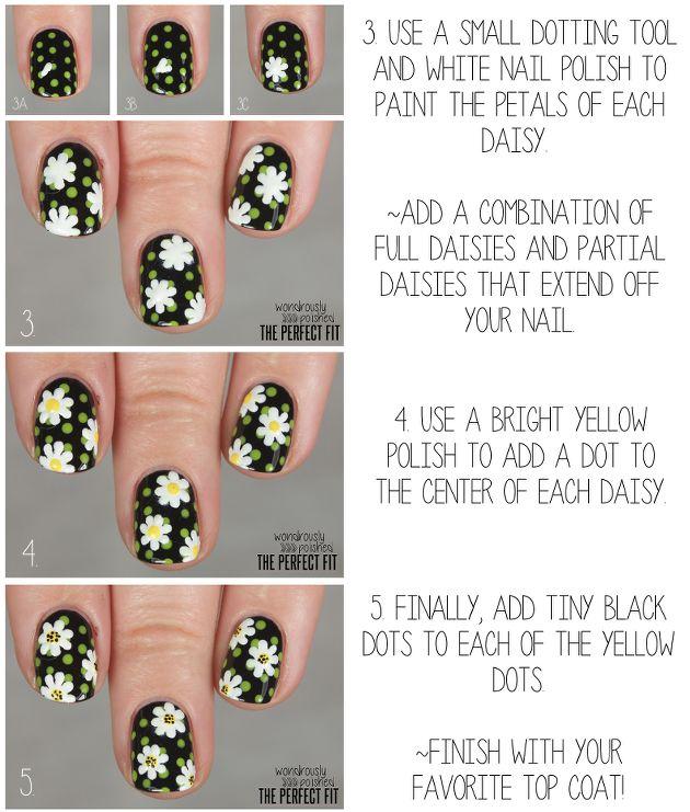 Daisy Nails by Wondrously Polished!