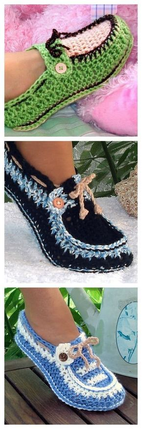Crochet Loafer Slipper Pattern