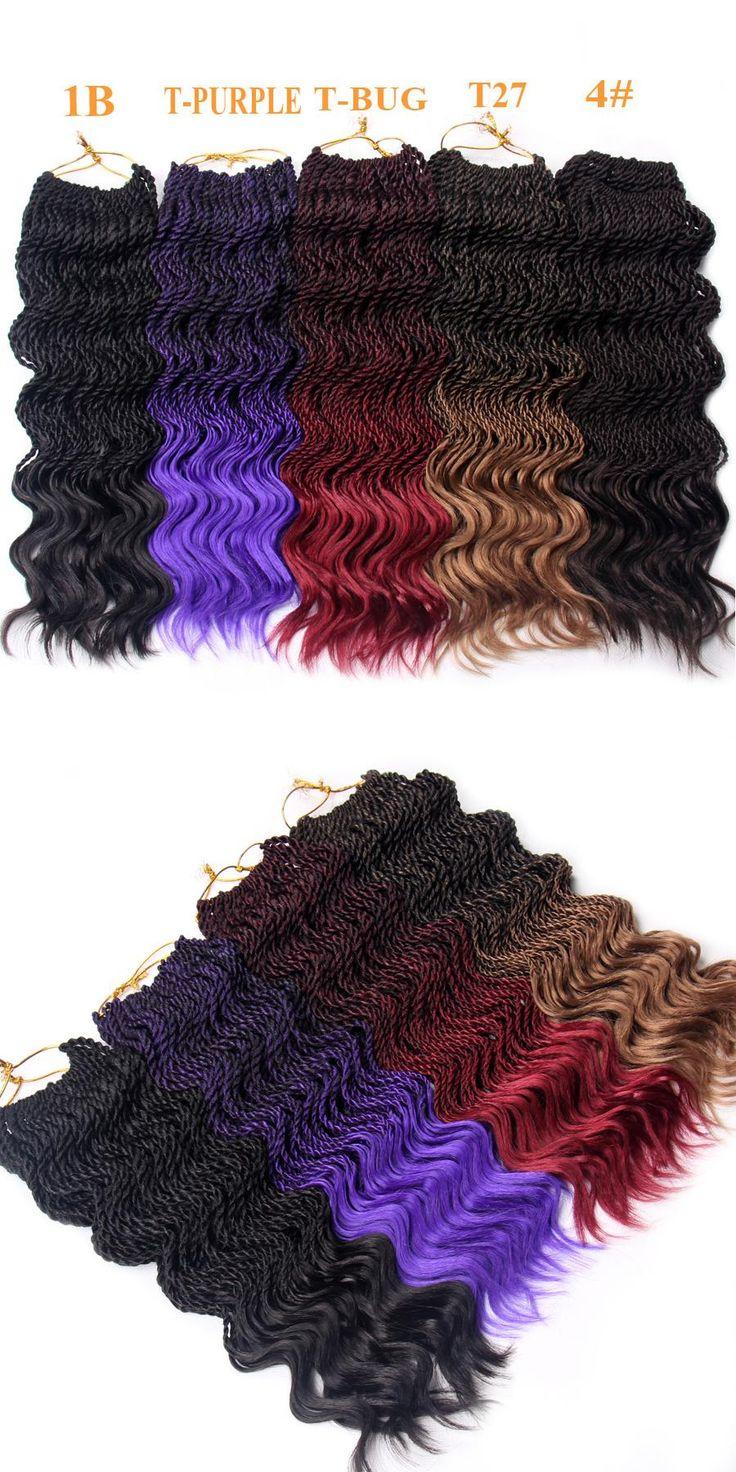 FALEMEI Curly Senegalese Braids Kanekalon Crochet Braid Hair Extensions 14Inch 75g 35Strands/Pack Synthetic Hair Braiding