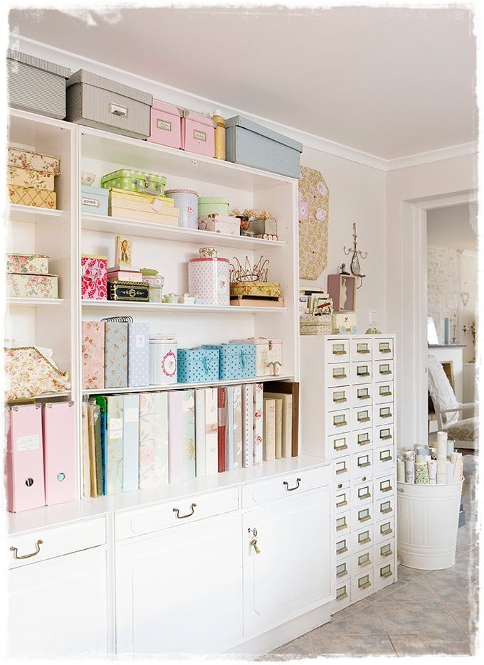 A lovely, colorful and beautiful way to organize the room! white says clean and pink says girly.