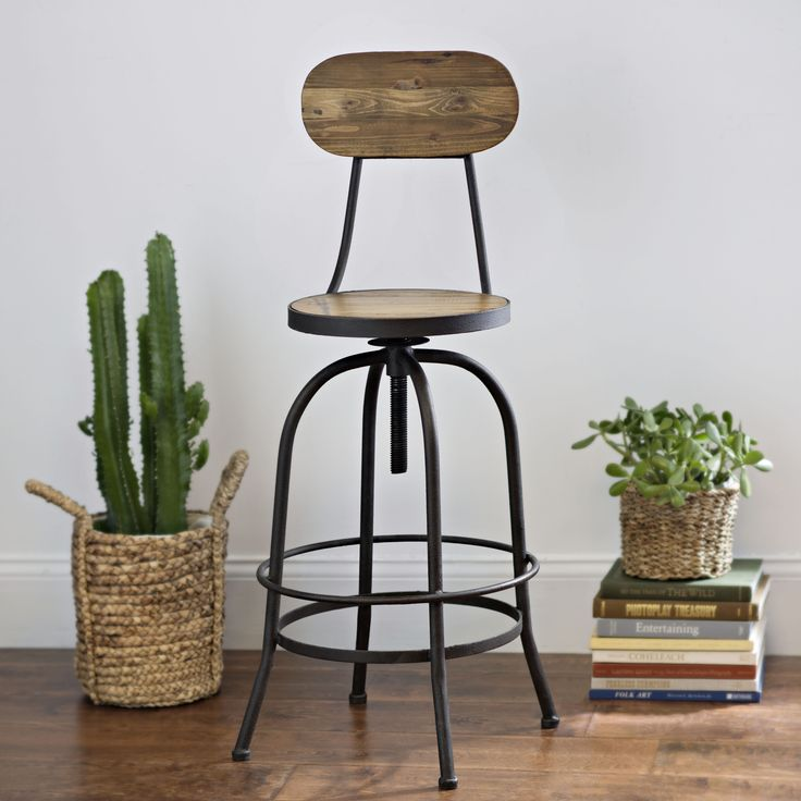 Superior The Elm Wood Bar Stool Is A Simple Way To Add Industrial Decor To Your Home