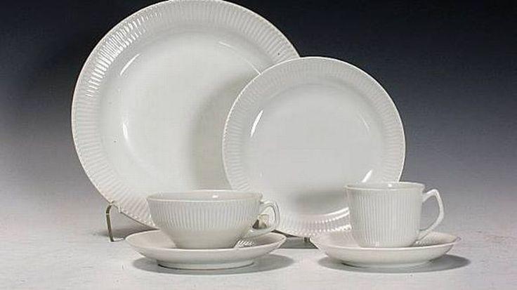 """Porsgrund Porselen """"Det riflede"""" fra cirka 1949 er attraktivt for samlere."""