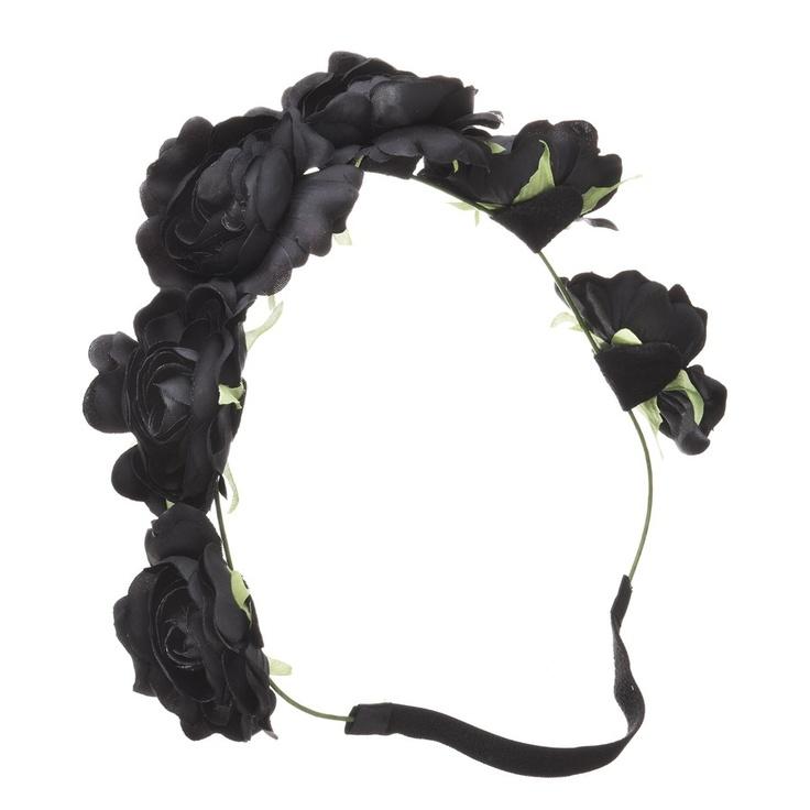 DIVA Winter Rose Bloom Crown Headband
