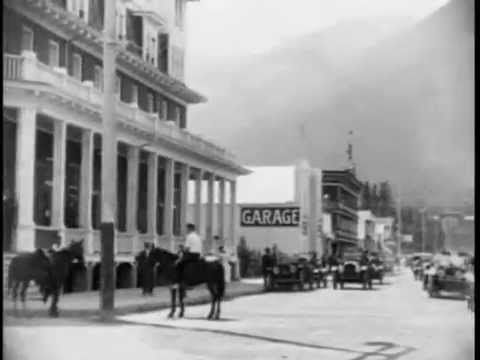 Downtown Banff Alberta 1920's - YouTube