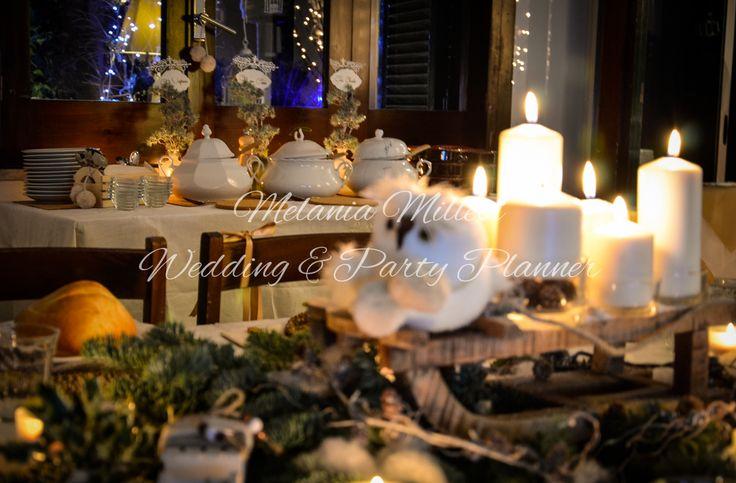 Centrotavola invernale country Allestimenti ... Wedding e Party Planner Catania Melania Millesi http://www.melaniamillesi.it/