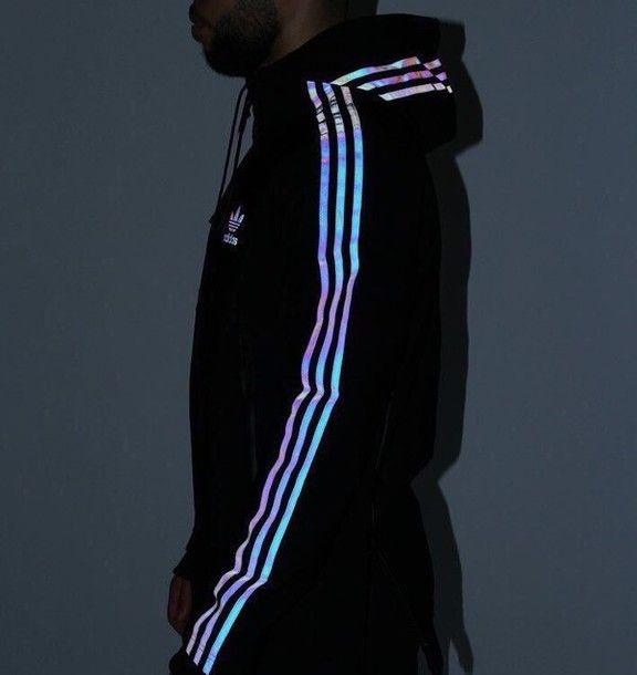 jacket adidas glow up sweatshirt adidas jacket reflective adidas superstars holographic cool adidas originals iridescent shiny sweater adidas sweater colorful stripes black jacket black addias jacket adidas