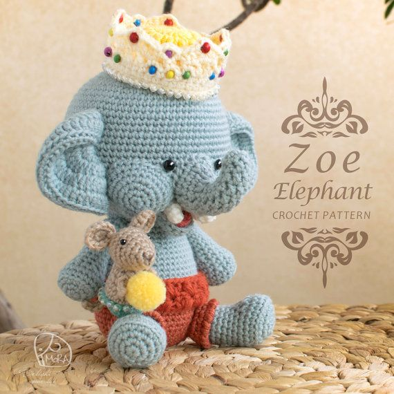 Crochet Pattern / Zoe Elephant doll / MoRA made pattern / Crochet doll series