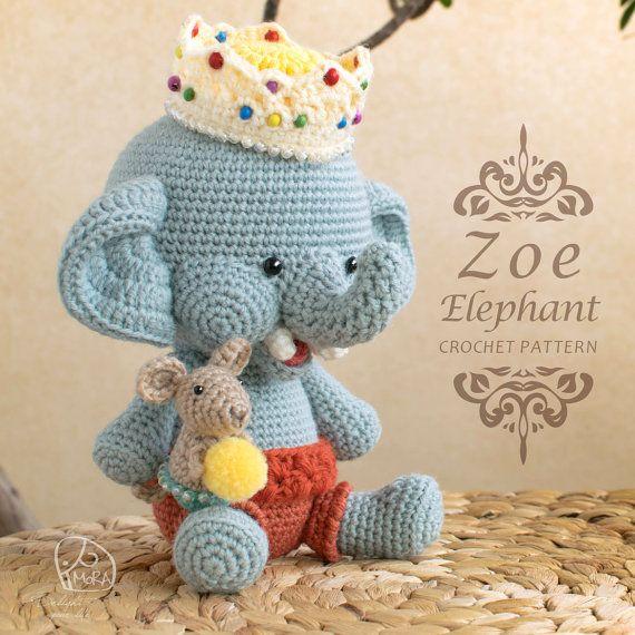 Crochet Pattern / Zoe Elephant doll / MoRA made pattern / Crochet doll series