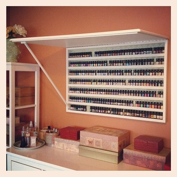 This could be nail polish storage, with a fun sign/decal on the outside when closed. Chris - make me one!
