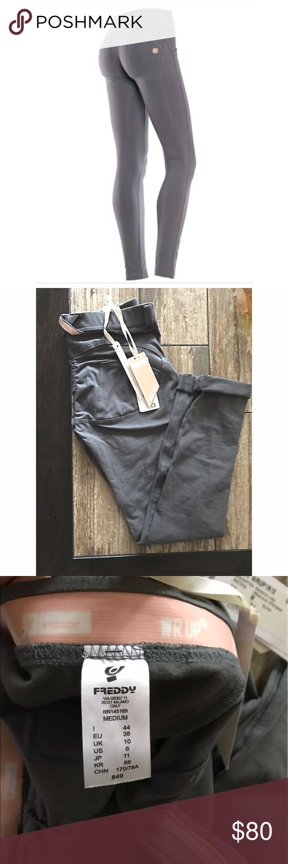 NWT size medium Freddy skinny pants NWT Freddy pants. Color is dark grey, regular rise, full length legging/skinny style. Purchased from another posher but they were too big. Looking to sell or trade for a small! The best pants you will ever own! Freddy Pants Leggings