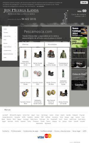 Presentación de nuestro ultimo trabajo de #diseñoWeb en #Bilbao. Se trata de #Pescamosca una tienda online de pesca referente a nivel nacional, con todas las grandes marcas y algunas en exclusividad.