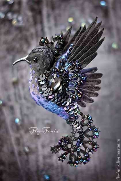 russian site - gorgeous fiber & bead bird creations.