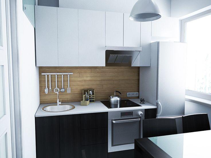 Дизайн интерьера маленькой кухни в однокомнатной квартире