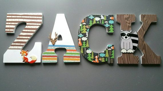 Custom made wood letters star wars. Lettres by MissiCreation
