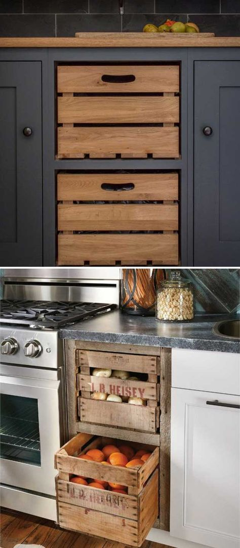 Add Farmhouse Style To Kitchen By Replacing Cabinet Drawers With These Old  Wooden