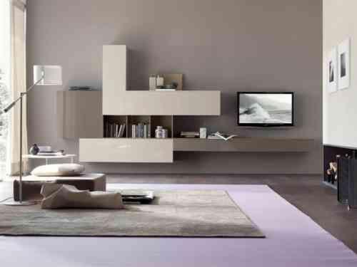 salon moderne gris en style minimaliste - Salon Moderne Gris