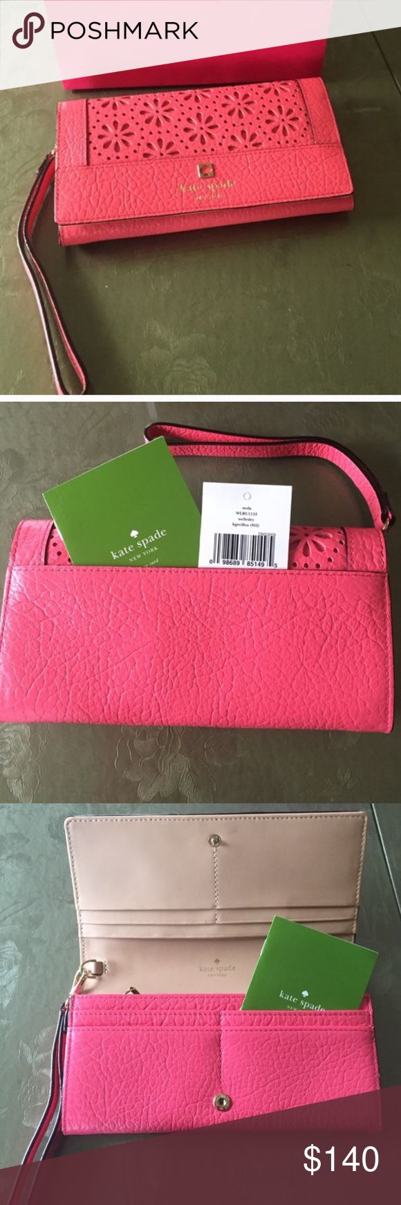 New Kate Spade wristlet New. No flaws. kate spade Bags Clutches & Wristlets