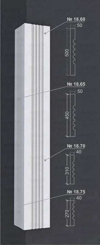 Угловые пилястры – Декор углов дома пенопластом Отделка углов фасада дома пенопластом – одна из важнейших составляющих общего декора внешних стен. Угловые пилястры – классический, эффектный прием значительно преобразить общий вид фасада дома. В отличии от босажей пилястры имеют сплошную, непрерывную форму, что визуально увеличивает высоту здания. К классической пилястре относится элемент прямоугольной формы с прорезями – канелюрами по всей длине архитектурного элемента. Верхняя часть…