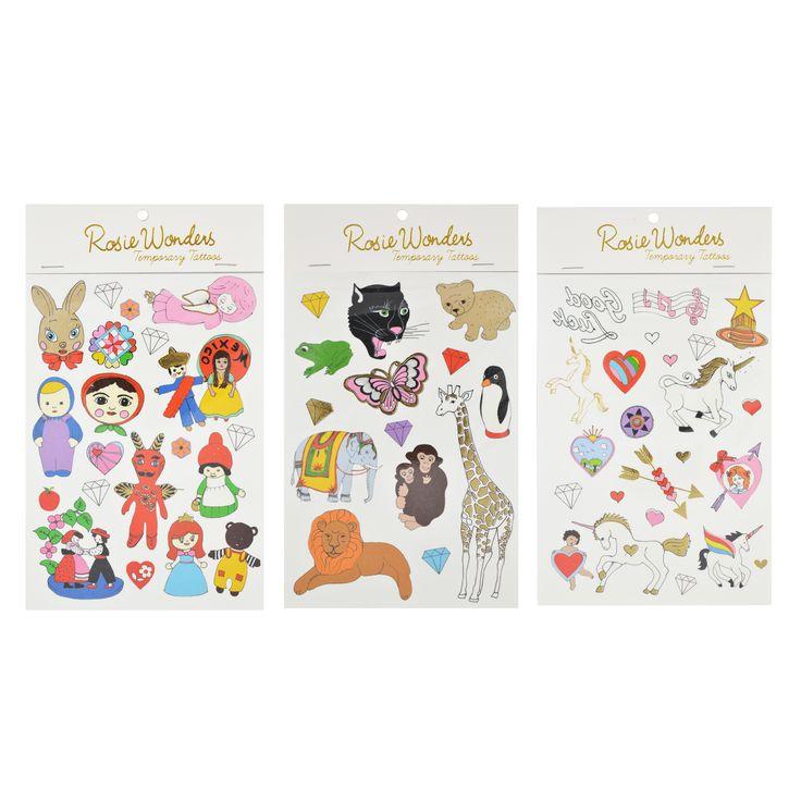 New mini tattoo packs on A6 sheetFairy TaleAnimalsUnicorn