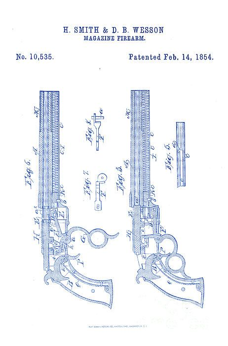 70 best maps images on pinterest vintage images draw and sci fi 1854 smith and wesson magazine firearm gun patent art dark blue on white malvernweather Gallery