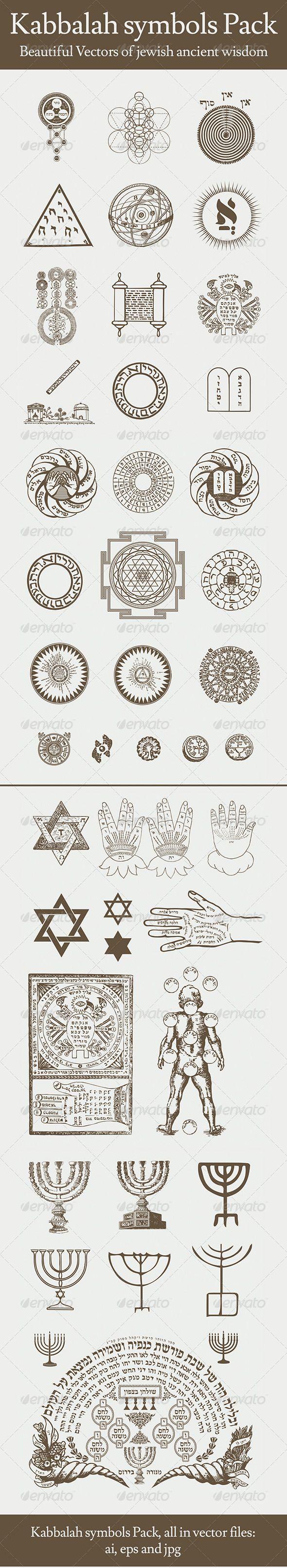 Kabbalah Symbols Pack #GraphicRiver