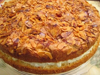 Bienenstich.  This traditional German cake lives up to the memory.