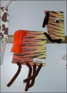 animaux papier déco cure pipe