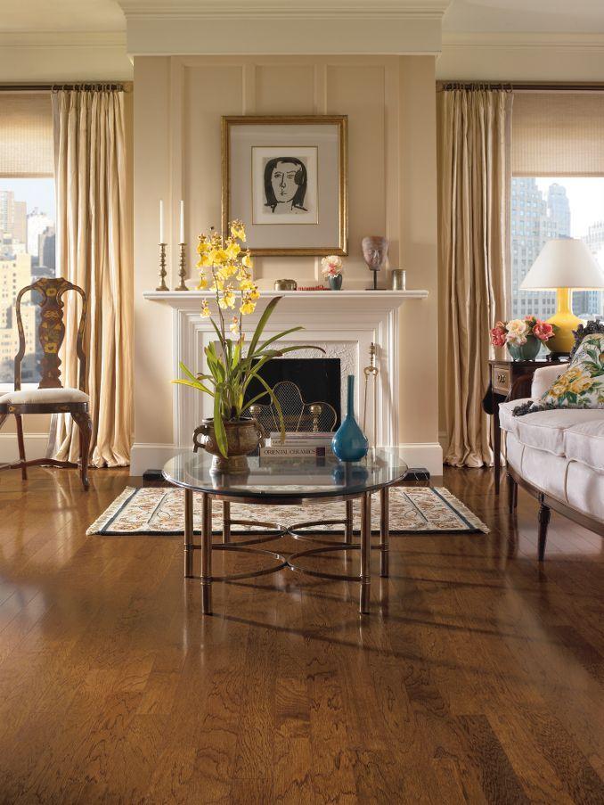 Hickory Hardwood Flooring - Brown : EHK94LG by Bruce Flooring