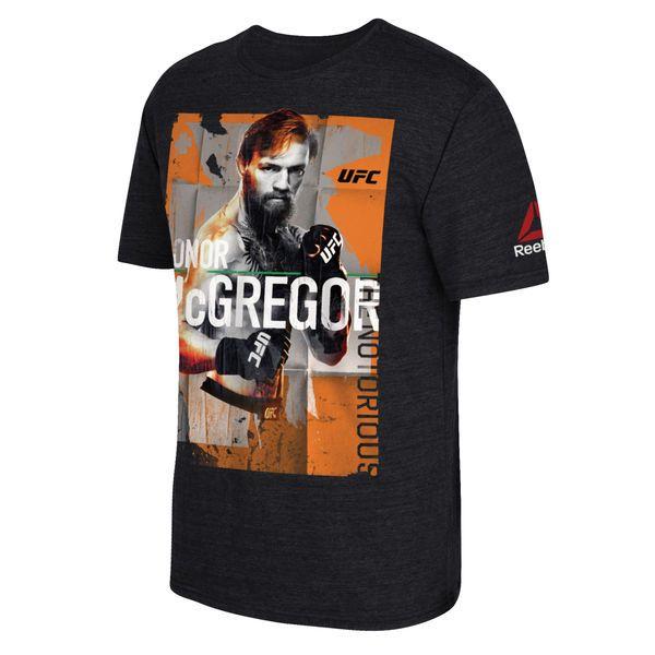 Conor McGregor Reebok UFC 202 Tribute Tri-Blend T-Shirt - Black - $34.99