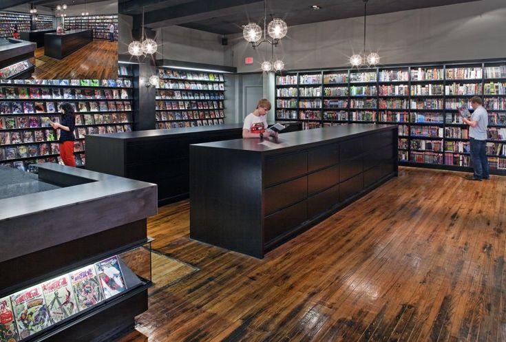 comic book shops | Tumblr  RRT: nice modern feel, good lights